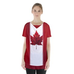 Canada Flag  Skirt Hem Sports Top by CanadaSouvenirs
