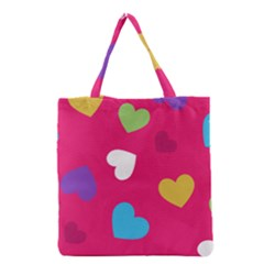 Valentine s Day Pattern Grocery Tote Bag by allthingseveryday