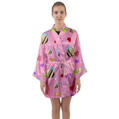 Bee Mine Valentine Long Sleeve Kimono Robe by allthingseveryday