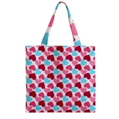 Bold Valentine Heart Grocery Tote Bag by allthingseveryday