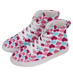 Bold Valentine Heart Women s Hi Top Skate Sneakers by allthingseveryday