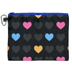 Emo Heart Pattern Canvas Cosmetic Bag (xxl) by allthingseveryday