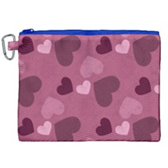 Mauve Valentine Heart Pattern Canvas Cosmetic Bag (xxl) by allthingseveryday