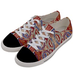 Symbols Pattern Women s Low Top Canvas Sneakers by Cveti