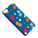 Robot Love Pattern Apple iPod Touch 5 Hardshell Case with Stand View5