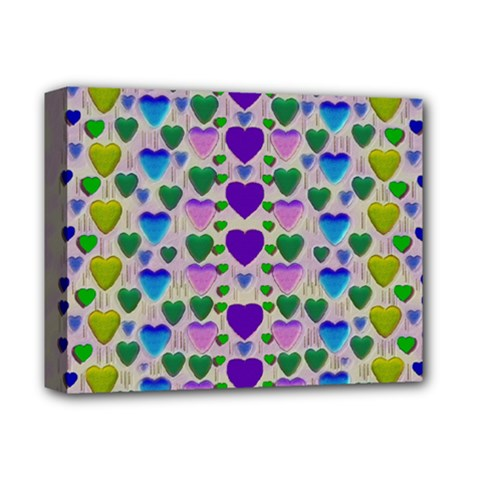 Love In Eternity Is Sweet As Candy Pop Art Deluxe Canvas 14  X 11  by pepitasart