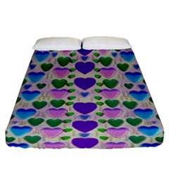 Love In Eternity Is Sweet As Candy Pop Art Fitted Sheet (queen Size) by pepitasart