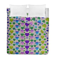 Love In Eternity Is Sweet As Candy Pop Art Duvet Cover Double Side (full/ Double Size)