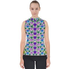 Love In Eternity Is Sweet As Candy Pop Art Shell Top by pepitasart