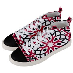 Mandala Flower Men s Mid Top Canvas Sneakers by berwies