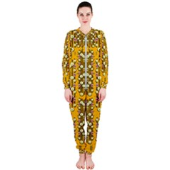 Rain Showers In The Rain Forest Of Bloom And Decorative Liana Onepiece Jumpsuit (ladies)  by pepitasart