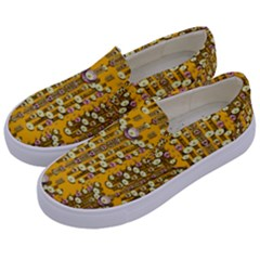 Rain Showers In The Rain Forest Of Bloom And Decorative Liana Kids  Canvas Slip Ons by pepitasart