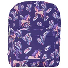 Unicorns Crystals Full Print Backpack by BubbSnugg