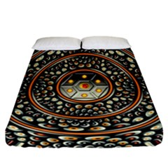 Dark Metal And Jewels Fitted Sheet (california King Size) by linceazul