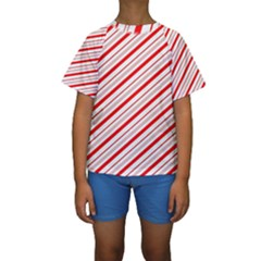 Candy Cane Stripes Kids  Short Sleeve Swimwear by jumpercat