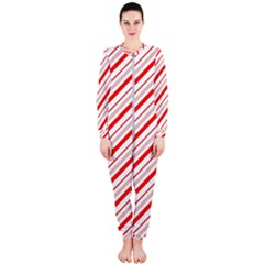 Candy Cane Stripes Onepiece Jumpsuit (ladies)