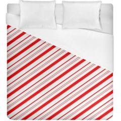 Candy Cane Stripes Duvet Cover (king Size)