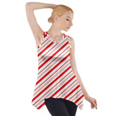 Candy Cane Stripes Side Drop Tank Tunic