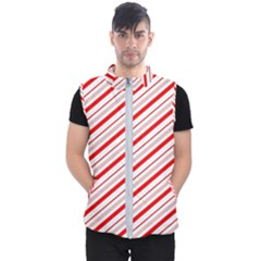 Candy Cane Stripes Men s Puffer Vest