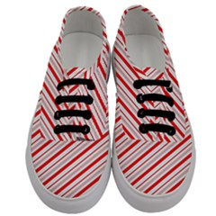 Candy Cane Stripes Men s Classic Low Top Sneakers
