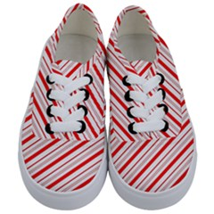Candy Cane Stripes Kids  Classic Low Top Sneakers