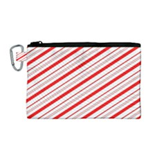 Candy Cane Stripes Canvas Cosmetic Bag (medium)