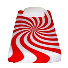 Peppermint Candy Fitted Sheet (single Size)
