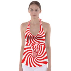 Peppermint Candy Babydoll Tankini Top