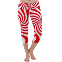 Peppermint Candy Capri Yoga Leggings