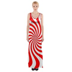 Peppermint Candy Maxi Thigh Split Dress