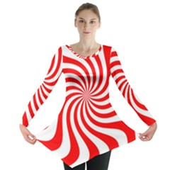 Peppermint Candy Long Sleeve Tunic