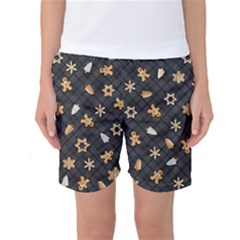 Gingerbread Dark Women s Basketball Shorts