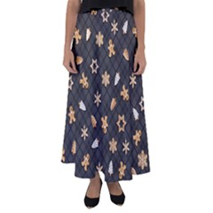 Gingerbread Dark Flared Maxi Skirt