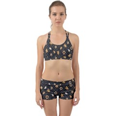 Gingerbread Dark Back Web Sports Bra Set