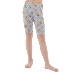 Gingerbread Light Kids  Mid Length Swim Shorts