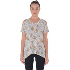 Gingerbread Light Cut Out Side Drop Tee