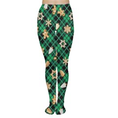 Gingerbread Green Women s Tights