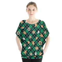 Gingerbread Green Blouse