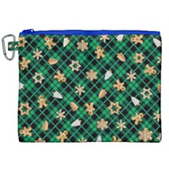 Gingerbread Green Canvas Cosmetic Bag (xxl) by jumpercat