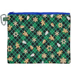 Gingerbread Green Canvas Cosmetic Bag (xxxl) by jumpercat