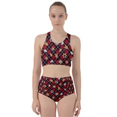 Gingerbread Red Racer Back Bikini Set