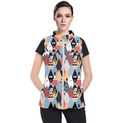 Abstract Diamond Pattern Women s Puffer Vest