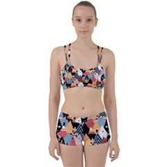 Abstract Diamond Pattern Women s Sports Set by allthingseveryday