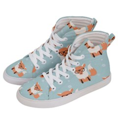 Cute Fox Pattern Women s Hi Top Skate Sneakers by allthingseveryday