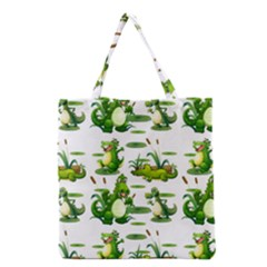 Crocodiles In The Pond Grocery Tote Bag by allthingseveryday