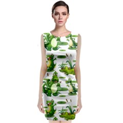 Crocodiles In The Pond Classic Sleeveless Midi Dress by allthingseveryday