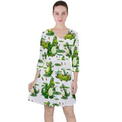 Crocodiles In The Pond Ruffle Dress