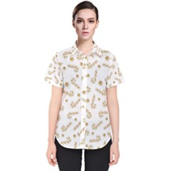Golden Candycane Light Women s Short Sleeve Shirt