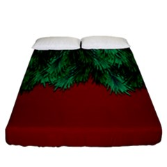 Xmas Tree Fitted Sheet (california King Size) by jumpercat