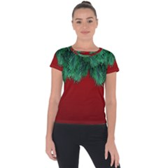 Xmas Tree Short Sleeve Sports Top